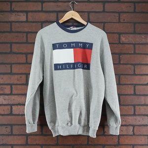 TOMMY HILFIGER Vintage 90s Flag Logo Sweatshirt XL
